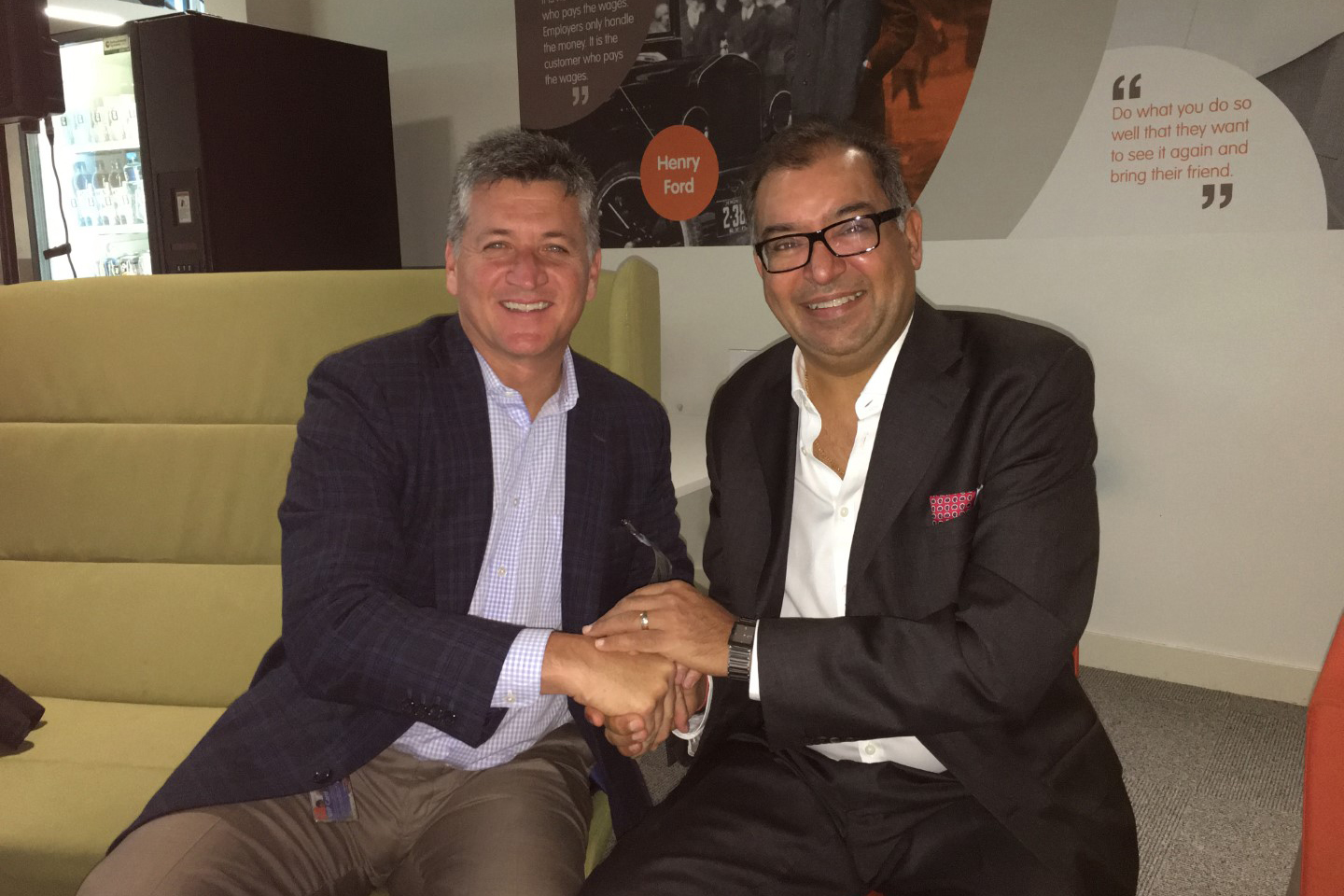 Learning Possibilities CEO and Larry Nelson of Microsoft sign a Global Alliance